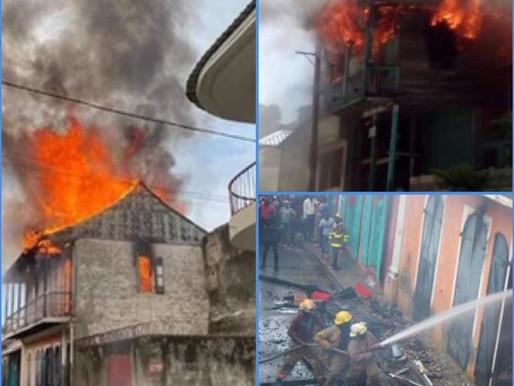 INCENDIE: 3 MAISONS CONSUMÉES DANS LA VILLE DU CAP-HAITIEN.