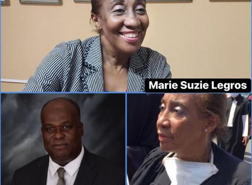 BÂTONNAT :L'AVOCATE MARIE SUZIE LEGROS, ELUE « BÂTONNIÈRE » DE L'ORDRE DES AVOCATS DE PORT-AU-PRINCE