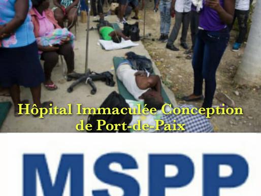 HAÏTI, COVID-19 : FERMETURE PROVISOIRE DU SERVICE D'URGENCE DE L'HÔPITAL IMMACULÉE CONCEPTION