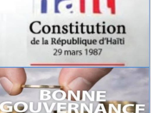 DÉBAT: NOUS N'AVONS PAS UN PROBLÈME DE CONSTITUTION, MAIS DE GOUVERNANCE