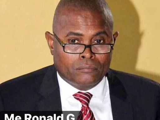 POLITIQUE: INSTALLATION DU NOUVEAU MINISTRE DE LA MJSAC, ME RONALD G. D'MEZARD.
