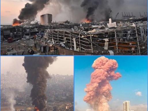 CATASTROPHE : LE LIBAN EST SOUS LE CHOC, SUITE À DEUX EXPLOSIONS