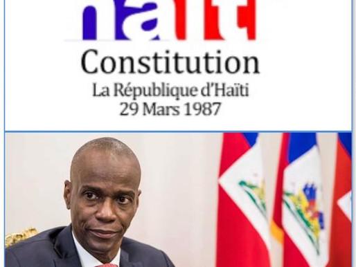 LE PRÉSIDENT JOVENEL MOÏSE SE PRONONCE POUR UNE NOUVELLE CONSTITUTION AVANT LES PROCHAINES ÉLECTIONS