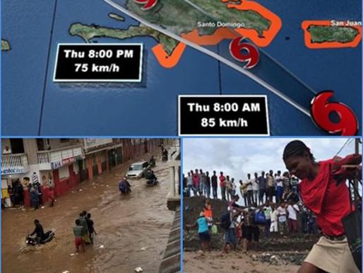 INTEMPÉRIES : PLUS DE 3000 FAMILLES ÉVACUÉES APRÈS LE PASSAGE DE LA TEMPÊTE ISAIAS EN HAÏTI