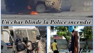 BANDITISME : UN POLICIER TUÉ, UN AUTRE BLESSÉ ET UN CHAR BLINDÉ DE LA POLICE INCENDIÉ À MARTISSANT