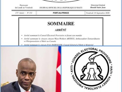HAÏTI-ELECTIONS : LE PRÉSIDENT JOVENEL MOÏSE, NOMME UN CONSEIL ÉLECTORAL PROVISOIRE (CEP)