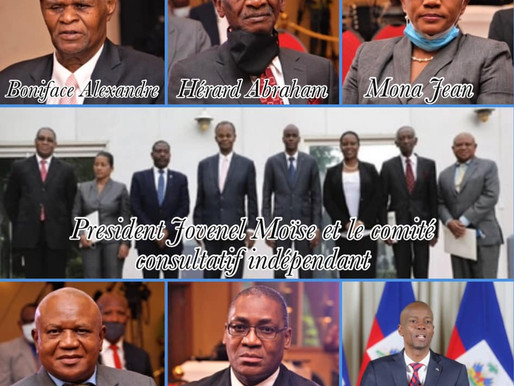 RÉFORME CONSTITUTIONNELLE : LE PRÉSIDENT JOVENEL MOÏSE A FRANCHI UN PAS DÉCISIF