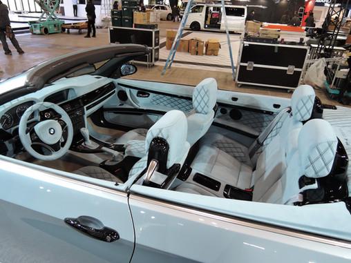 BMW 335i カブリオレ 内装、シート 総張り替え