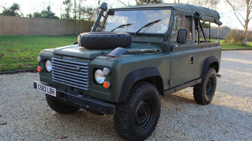 (SOLD) - 1986 90 Ex MOD soft top 2.5N/a Diesel, RHD