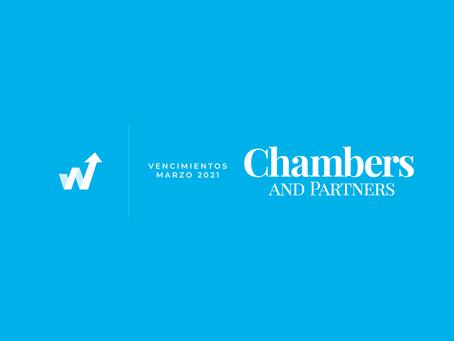 Vencimientos Chambers & Partners - Marzo