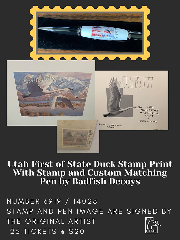 Utah First of State Duck Stamp Print Wit