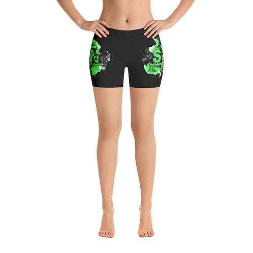 Plague Dr - Women's Black Stretchy Booty Shorts