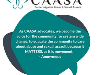 What does a Centers Against Abuse and Sexual Assault (CAASA) advocates do?