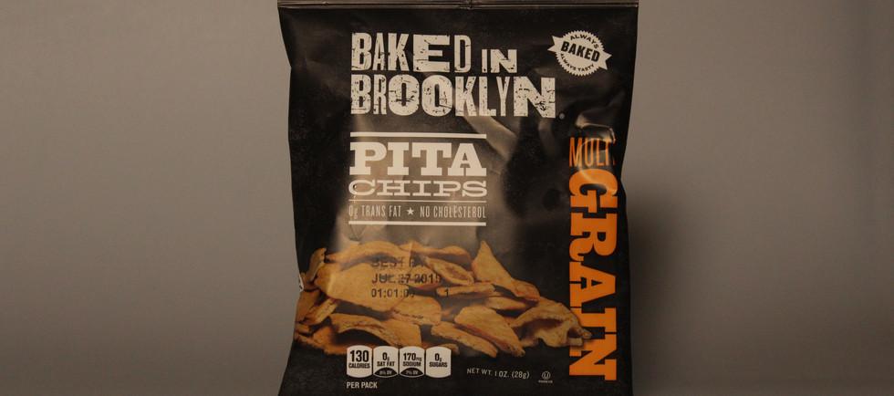 Baked in brooklyn multigrain pita chips.