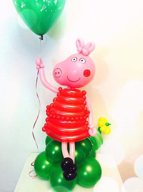 """Фигура из шариков """"Свинка Пеппа"""""""