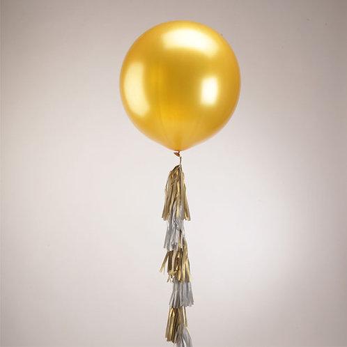 """Большой воздушн.шар с гирляндой """"Тассел"""" 1,5 метра"""