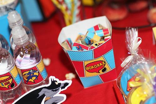 """Коробочка для сладостей """"Супергерои"""" (комиксы)"""