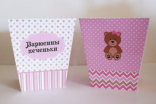 """Коробочка для сладостей """"Мишка для девочки"""""""