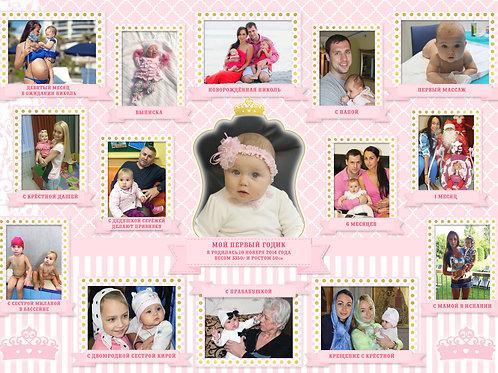 """Плакат с фото """"Маленькая принцесса"""""""