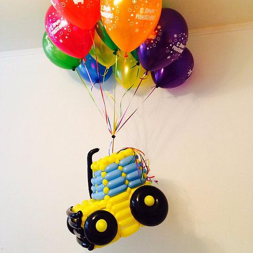 Трактор на шариках