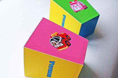 """Коробочка для сладостей """"Робокары"""" (для девочки)"""