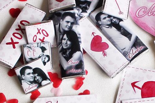 Шоколадка 20гр ко Дню Св.Валентина