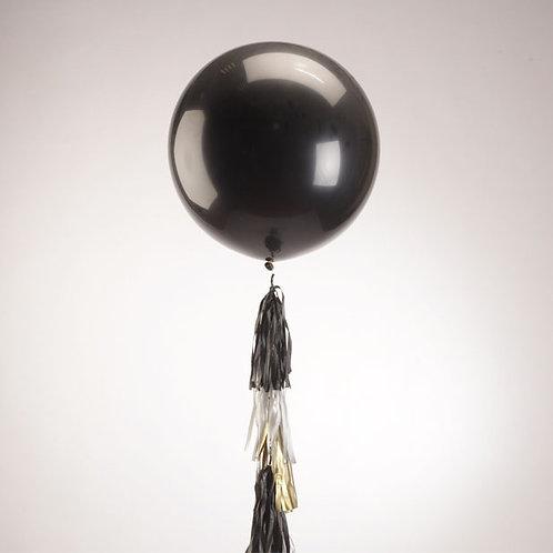 """Большой воздушный шар с гирляндой """"Тассел"""" 1 метр"""