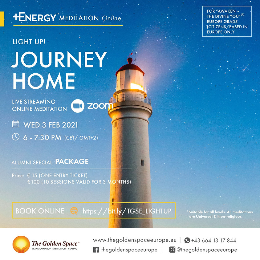 """JOURNEY HOME Light-Up Online for the """"Awaken ~ The Divine You"""" Graduates"""