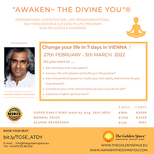 A Life-Transformational Journey towards Self-Discovery, Self-Mastery, Enlightenment, Happiness and Success-in-Life Program