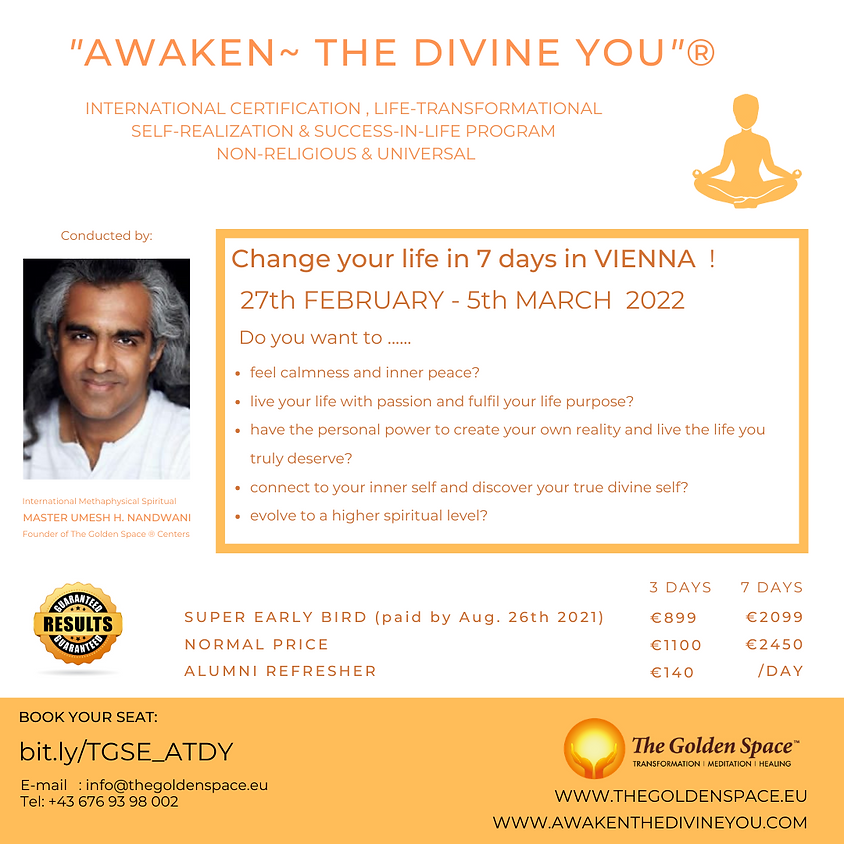 """Awaken ~ The Divine You""® Programm"