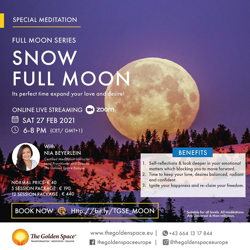 SNOW Moon (Full Moon Meditation Series)