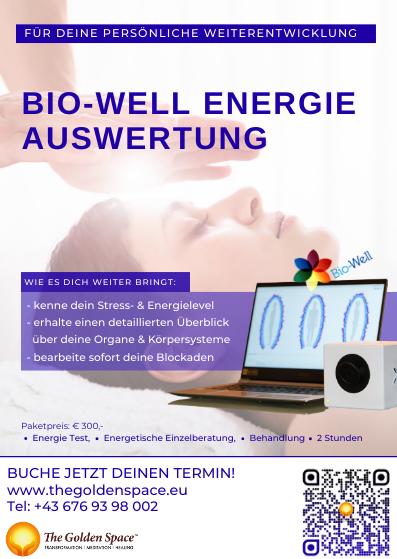 Bio-Well Energie Auswertung