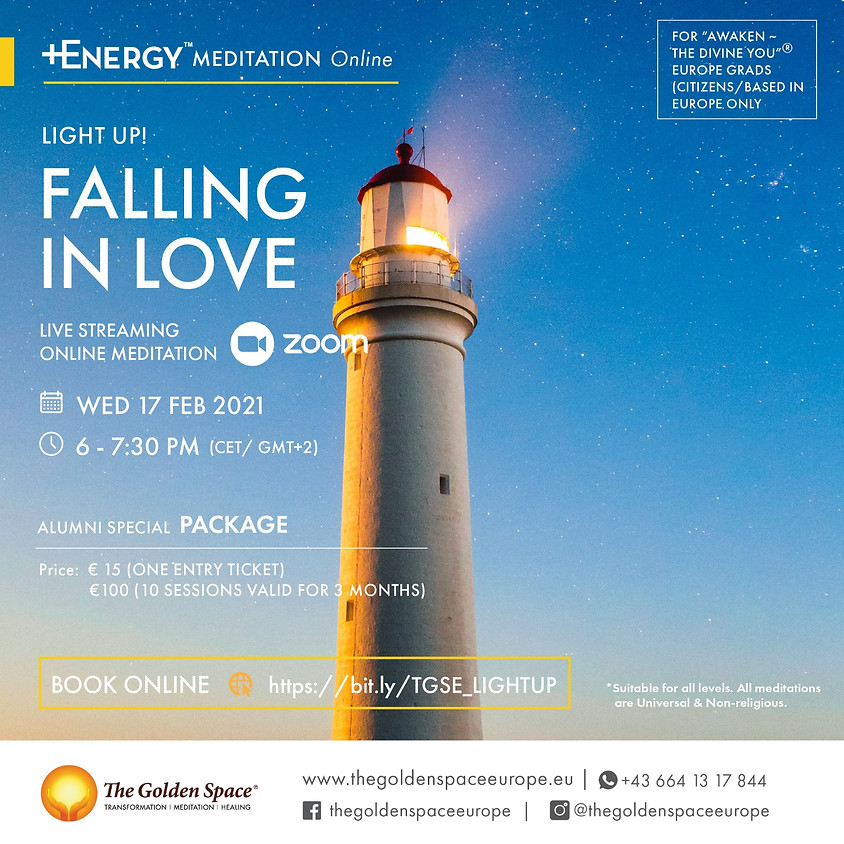 """FALLING IN LOVE Light-Up Online for the """"Awaken ~ The Divine You"""" Graduates"""