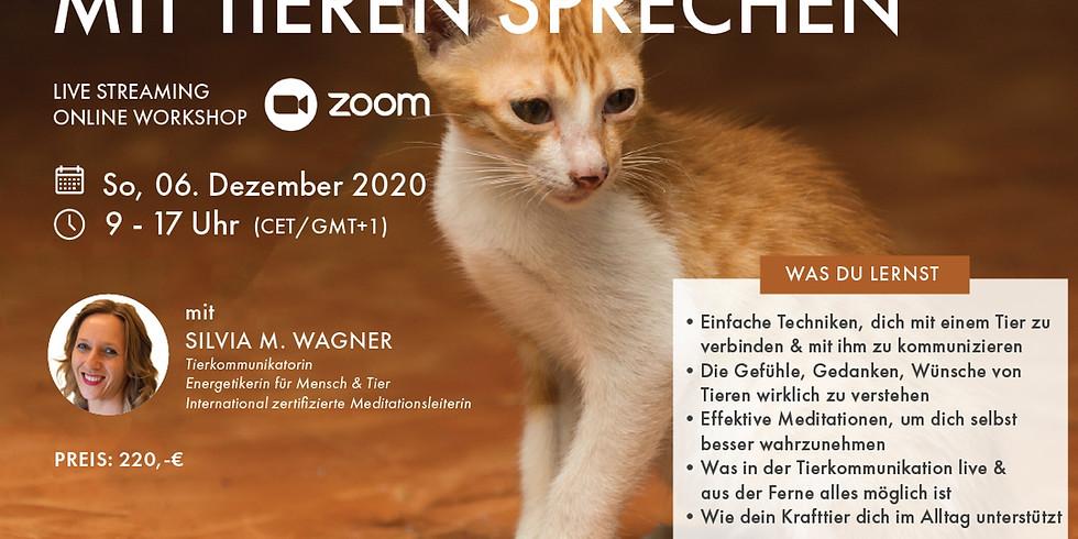 Auch du kannst mit Tieren sprechen - Online Workshop