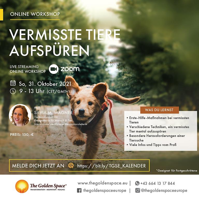 Vermisste Tiere aufspüren - Online Workshop