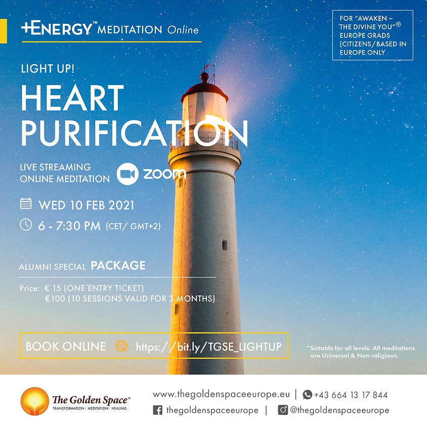 """HEART PURIFICATION Light-Up Online for the """"Awaken ~ The Divine You"""" Graduates"""