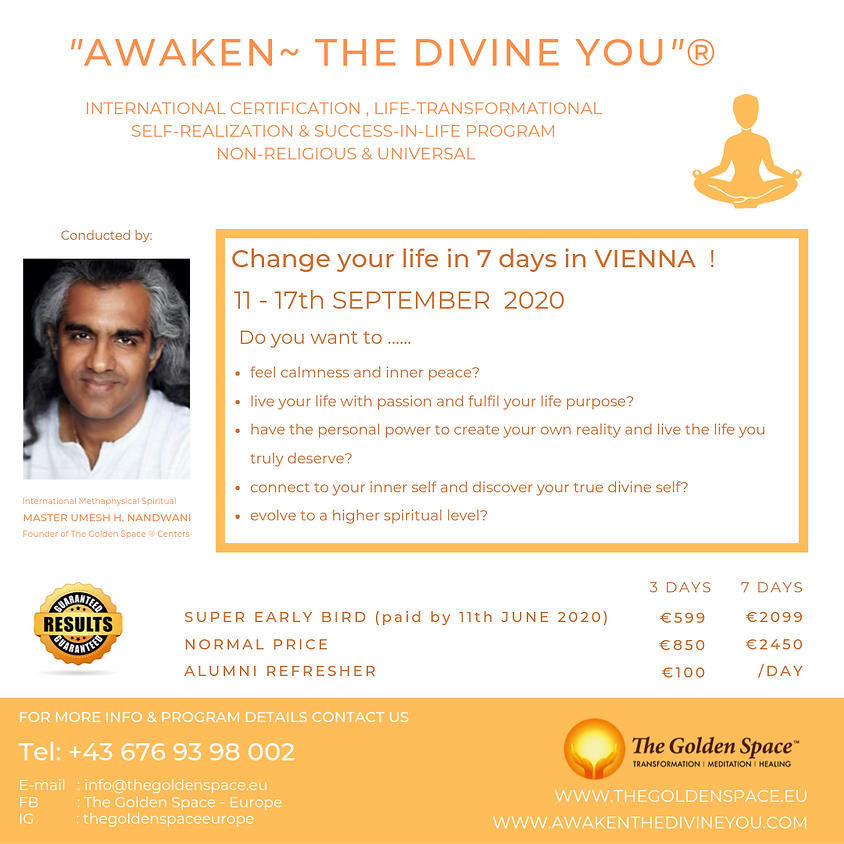 """Awaken ~ The Divine You""® Program"