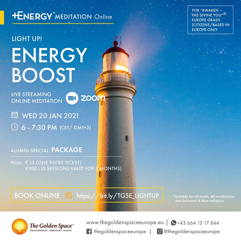 """ENERGY BOOST Light-Up Online for the """"Awaken ~ The Divine You"""" Graduates"""