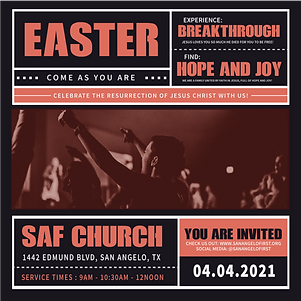Sunday Service IG POST invite CONCERT ST