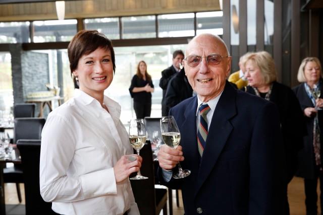 Winemakers Gwyn Olsen & Karl Stockhausen. Photo: Chris Elfes