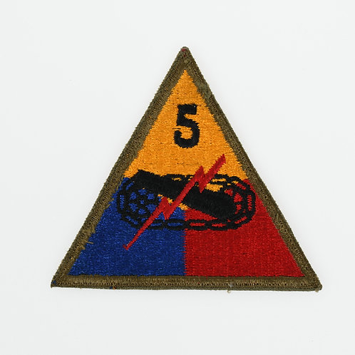 WWII 5th Armored Division shoulder patch