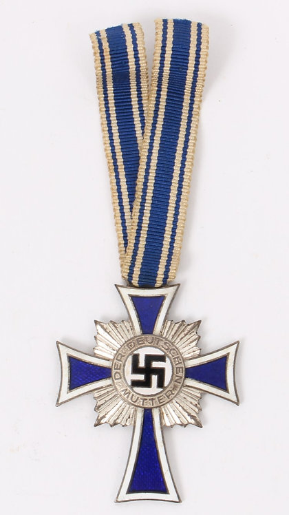 WWII German Mother Cross Medal silver grade