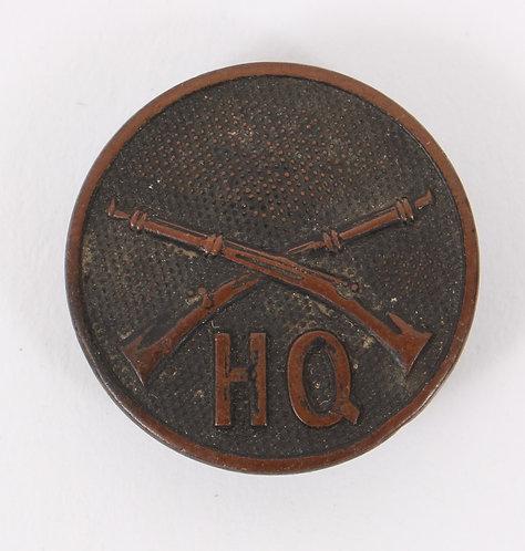 WWI US Army Infantry Headquarter EM / NCO collar disc insignia