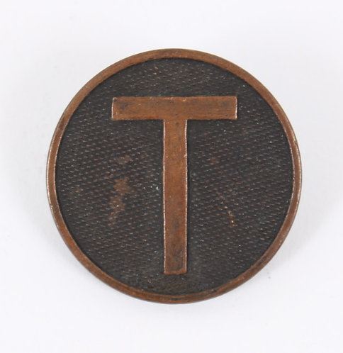 WWI US Army Train EM / NCO collar disc insignia