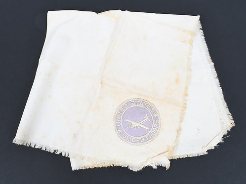 WWII US Army Glider Troops silk scarf with patch
