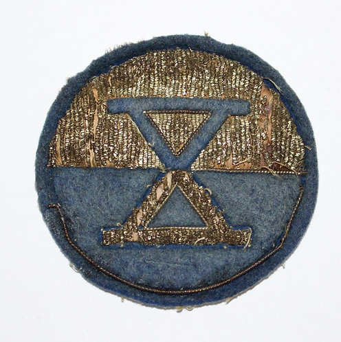 WWII US Army X Corps Theater made bullion patch