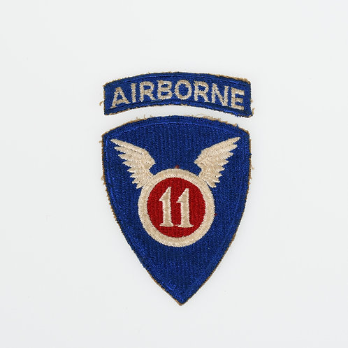 WWII 11th Airborne w/ detached tab shoulder patch