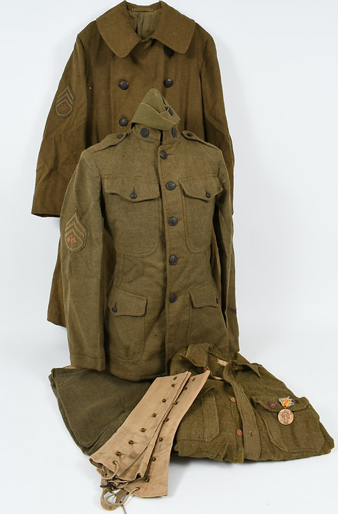 WWI US ARMY SIGNAL CORPS UNIFORM GROUPING
