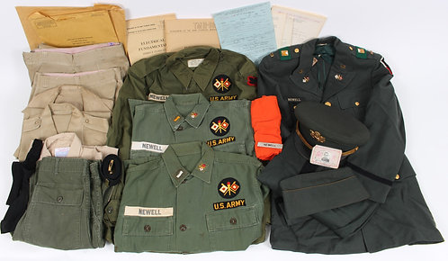 Early Vietnam War US Army Signal Corps Officer named uniform grouping
