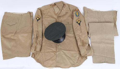 Vietnam War US Special Forces khaki summer uniform named grouping